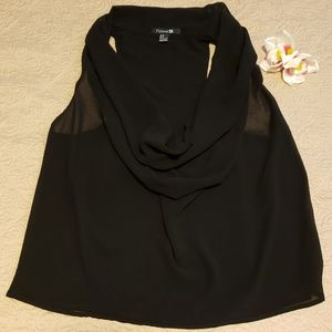 Forever 21 Shear Black Top size M